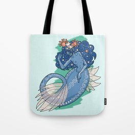Mermaid Grabs Back Tote Bag