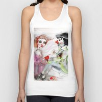 clown Tank Tops featuring Clown by AliluLera