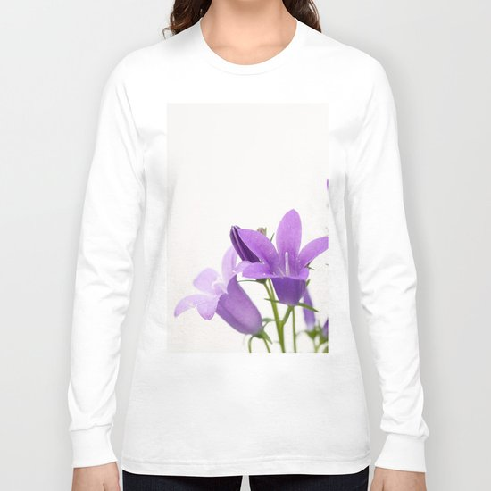 PURPLE FLOWERS - Bellflowers #2 #decor #art #society6 Long Sleeve T-shirt