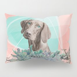 Eclectic Geometric Redbone Coonhound Dog Pillow Sham