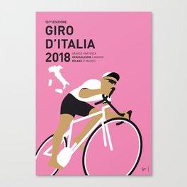 MY GIRO DITALIA MINIMAL POSTER 2018 Canvas Print
