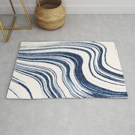 Textured Marble - Indigo Blue Rug