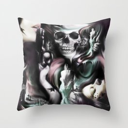 Sin and smoke, the art of a borderline.  Throw Pillow
