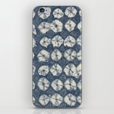 Indigo Spiderweb Shibori iPhone & iPod Skin