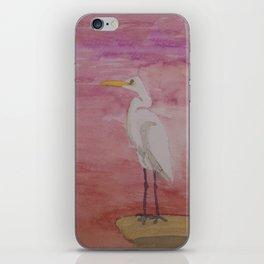 Egret Sunset iPhone Skin