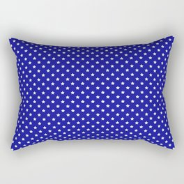 Blue and White Stars Rectangular Pillow