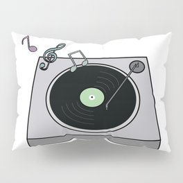 Record Player Pillow Sham