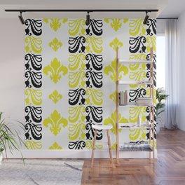 Fluer de Lis Custom Yellow Wall Mural