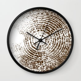 Tree Stump Brown Wall Clock
