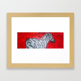 Red Zebra Framed Art Print