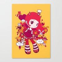 kawaii Canvas Prints featuring Kawaii by Pamela Barbieri