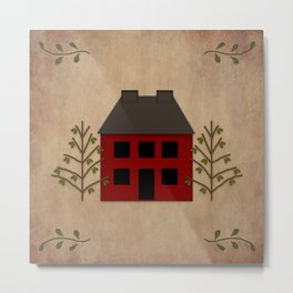 Primitive Country House Metal Print