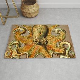 Vintage Golden Octopus Rug