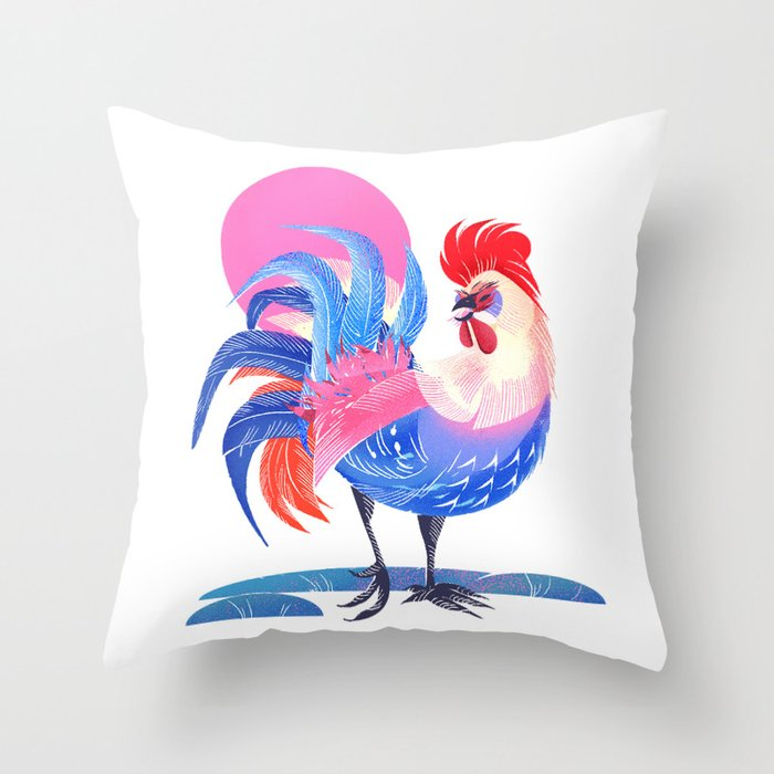 Year of the Rooster Throw Pillow