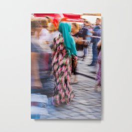 Turkish woman wearing colorful clothes Metal Print