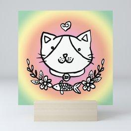 Cat doodles Mini Art Print
