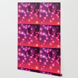 Abstract Disco Purple Wallpaper