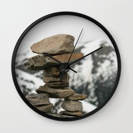 Inuksuk at the Peak Wall Clock