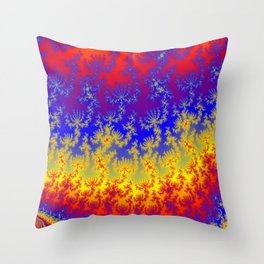 Fractal Strata Throw Pillow