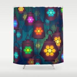 Colorful Lanterns Pattern Shower Curtain