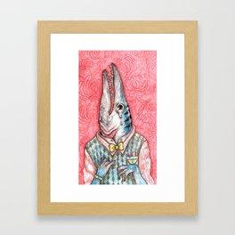 Barracuda boy Framed Art Print