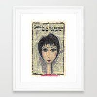 sarcasm Framed Art Prints featuring Sarcasm by Jodi Reeves {a creative soul}