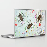 beauty and the beast Laptop & iPad Skins featuring Beauty + Beast  by The Graveyard Girl