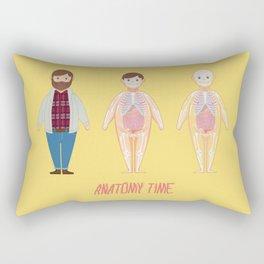 Anatomy Time 3 Figures Rectangular Pillow
