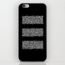 tri black iPhone Skin
