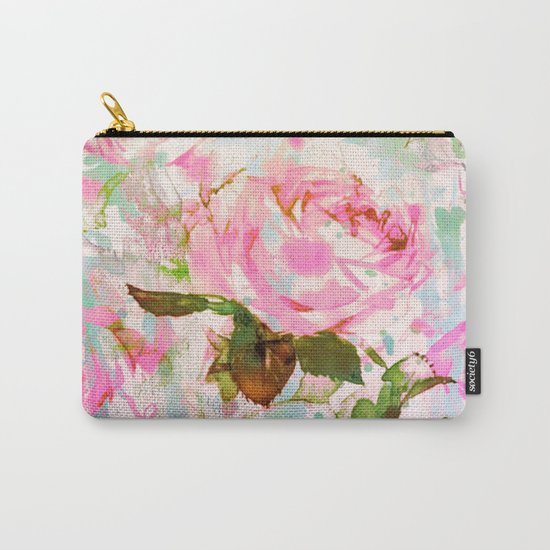 abstract pink rose Carry-All Pouch