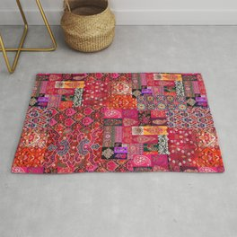 N98 - Traditional Heritage Boho Oriental Moroccan Collage Style. Rug