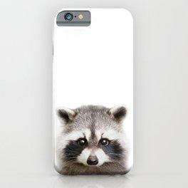 Raccoon Baby Animals Art Print by Zouzounio Art iPhone Case