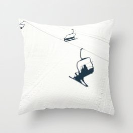 Chair lift shadow Throw Pillow