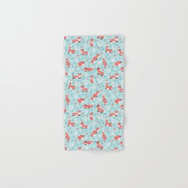 Fox and Bunny Pattern Hand & Bath Towel