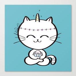 Lily Unicorn Kitty Canvas Print