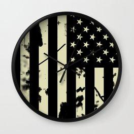 Distressed Tactical U.S. Flag Wall Clock