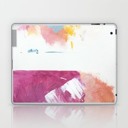 Cotton Candy: a bright, colorful abstract in pinks, blues, yellow, and white Laptop & iPad Skin