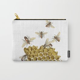 BEES and Honeycomb Carry-All Pouch