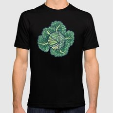 dreaming cabbages MEDIUM Black Mens Fitted Tee