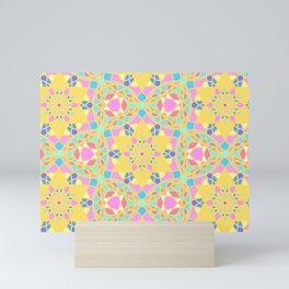 God Geometric name pattern Mini Art Print