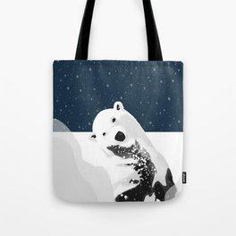 Unique Polar Bear Scene Tote Bag