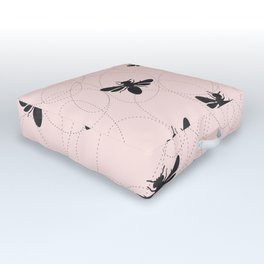 Bee Dance on Pink - Mix & Match With Simplicity of Life Outdoor Floor Cushion