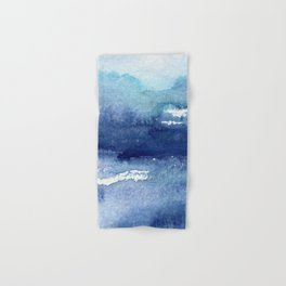 Blue Watercolour Ocean Hand & Bath Towel