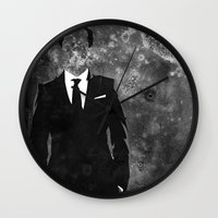 moriarty Wall Clocks featuring Moriarty by Amy K. Nichols