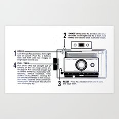 Polaroid Land Camera  Art Print
