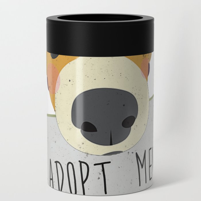 Adopt A Shelter Dog Puppy Face Holding Adopt Me Sign Art