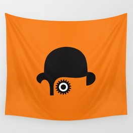A Clockwork silhouette Wall Tapestry