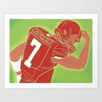 49ers Art Prints featuring 49ers Colin Kaepernick by Courtney Charlton