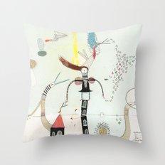 Desire creates the power. Throw Pillow