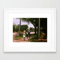 space dandy Framed Art Prints featuring Dandy & adelie (St.petersburg FL) (space dandy) by Jackobi Austin